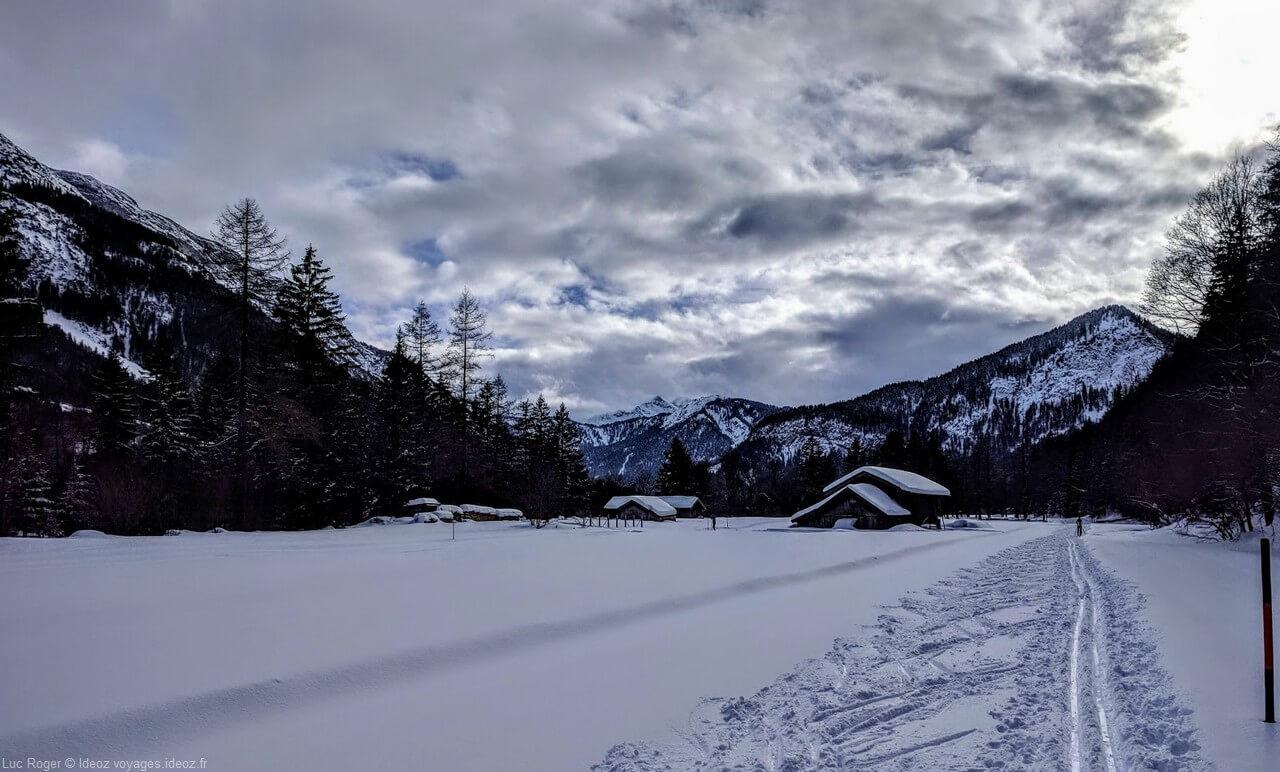 Dans les alpes bavaroises à Riebdoben Mittenwald