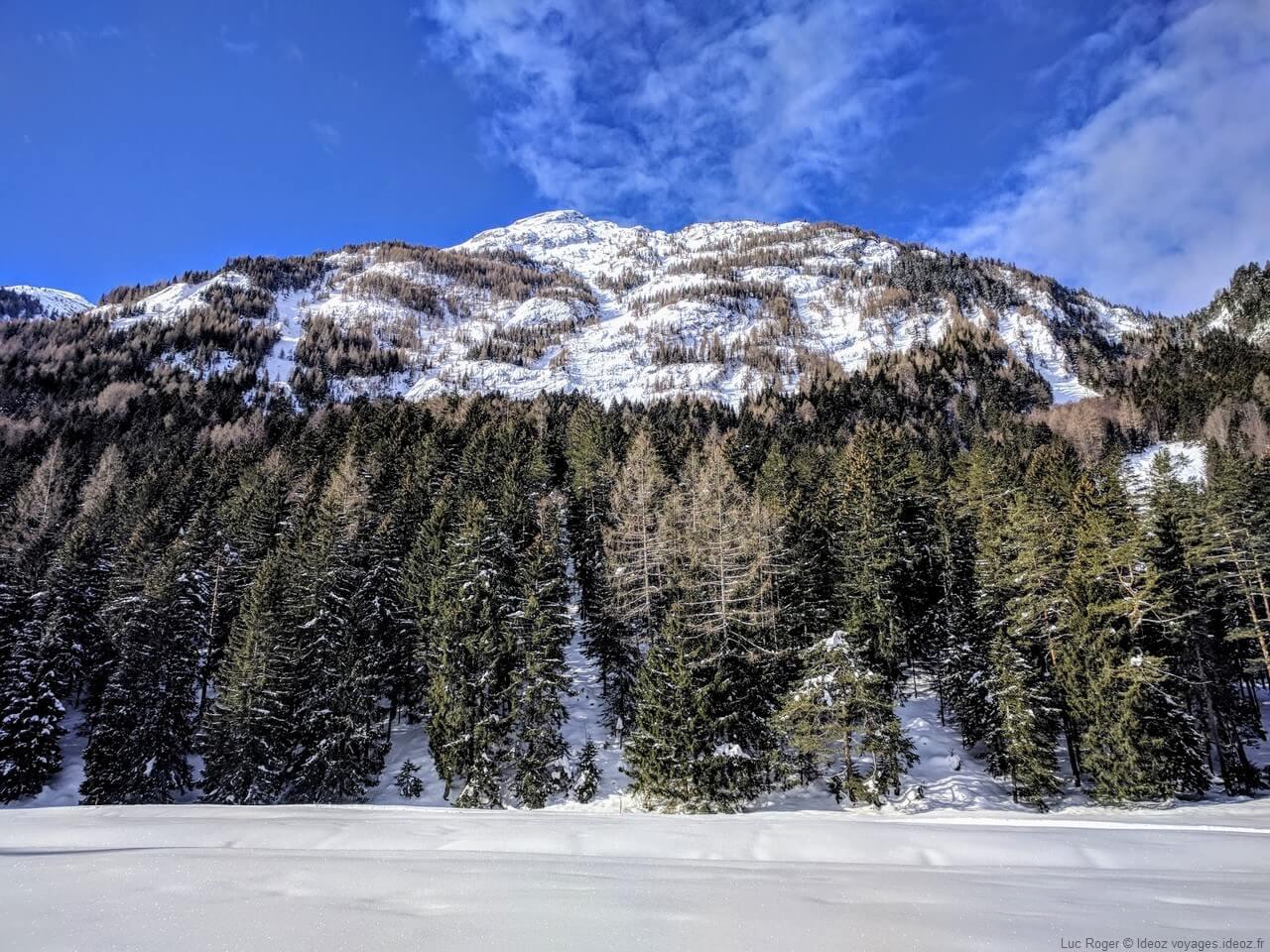 Mittenwald Riedboden montagnes et forets en hiver