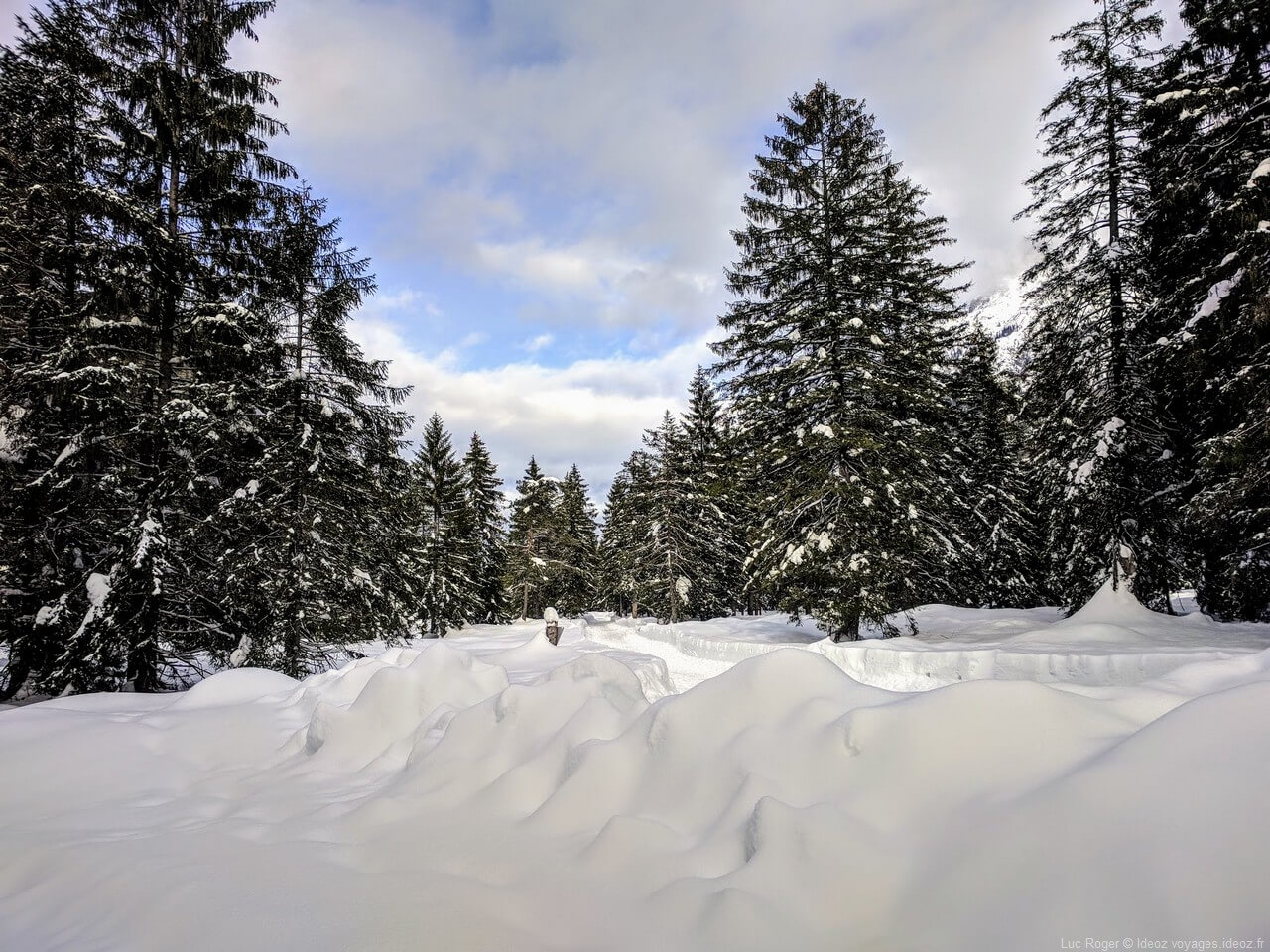 Neige abondante dans les massifs de Mittenwald Riedboden