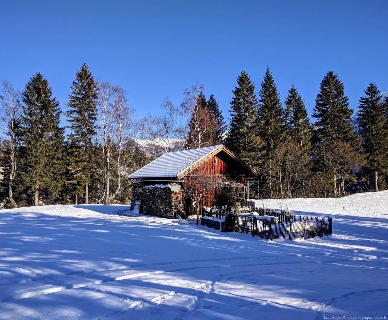Chalet dans les massifs de Mittenwald en Haute bavière