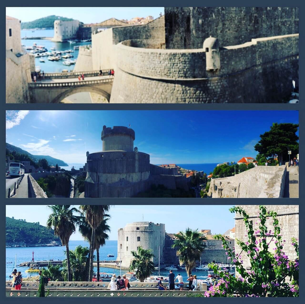 Entrées par les fortifications de Dubrovnik