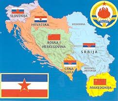 carte républiques de yougoslavie