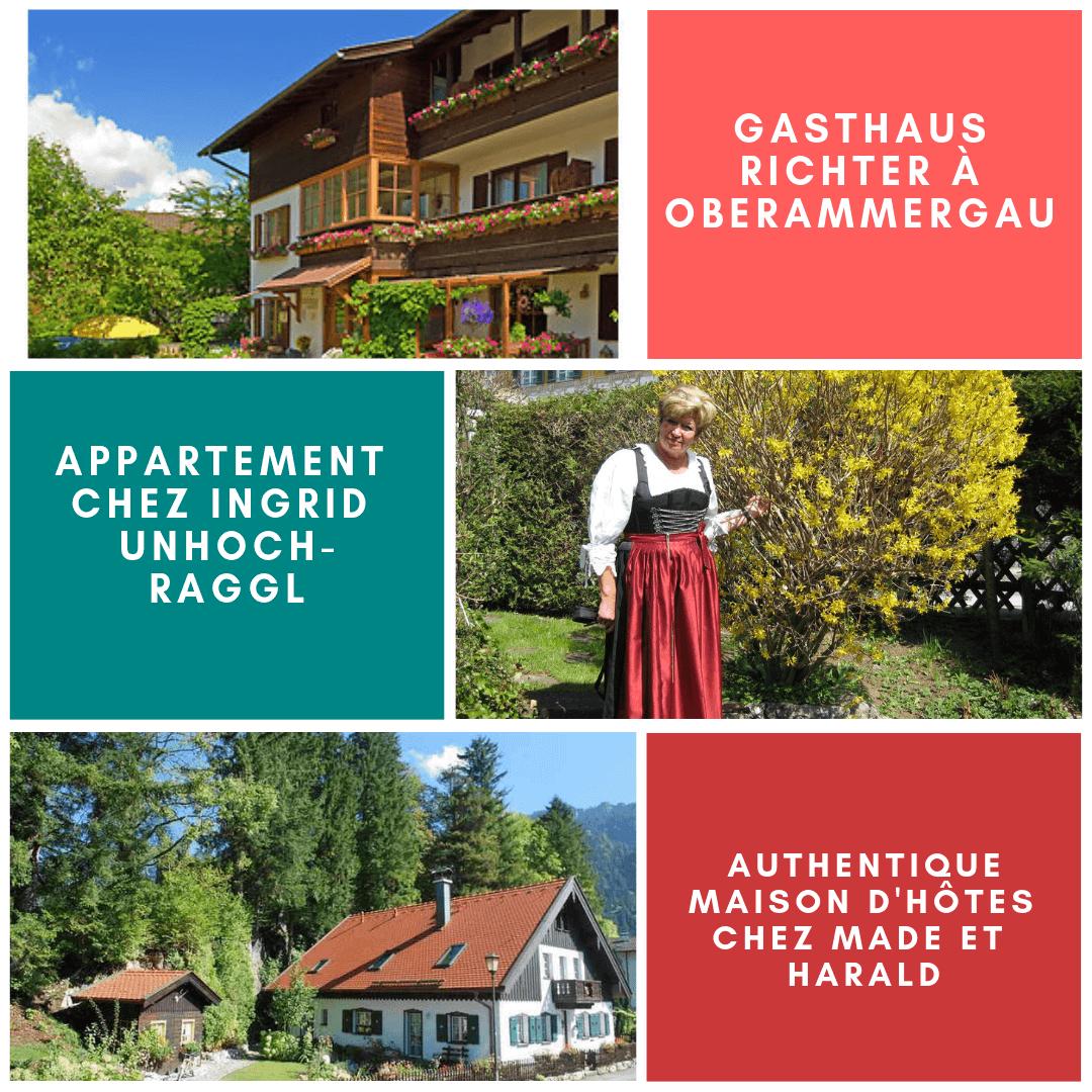 Hébergements recommandés à Oberammergau