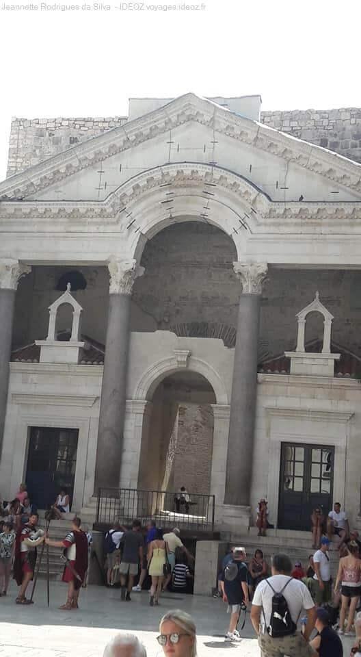 Intérieur du palais de Dioclétien à Split