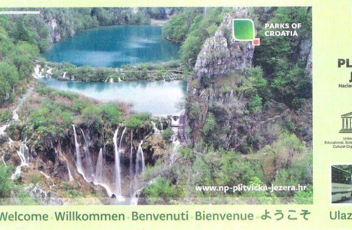 billet parc de Plitvice