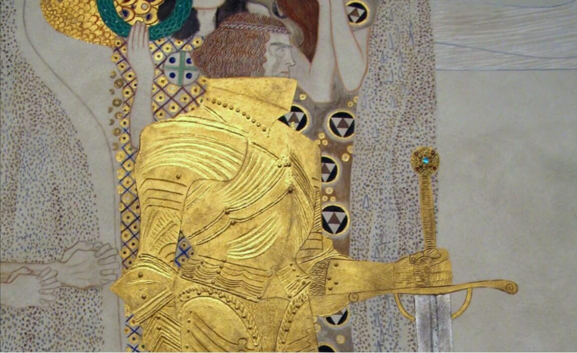 détail de la frise de Beethoven de Klimt