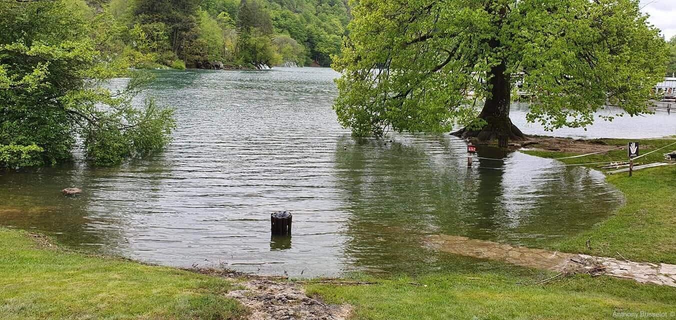 inondations à Plitvice mai 2019