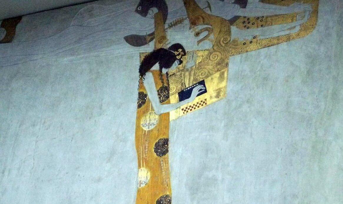 musicienne de Klimt au Pavillon Sécession à Vienne