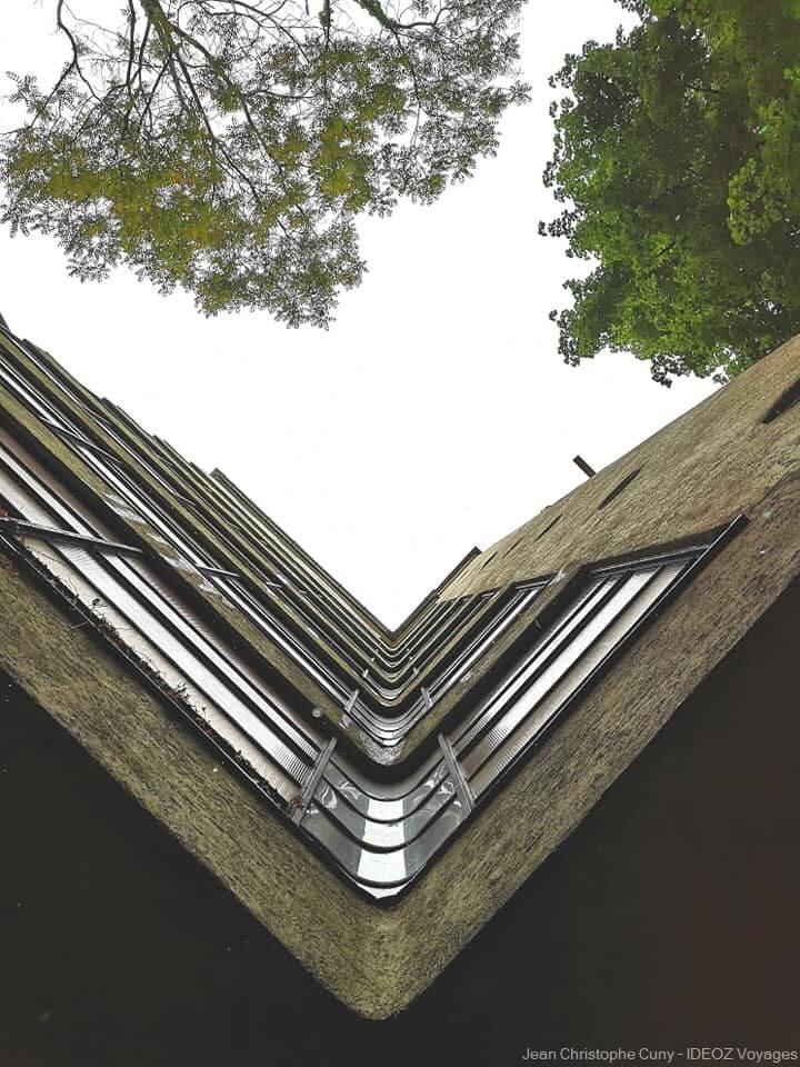 Angle de vue pour un immeuble de style Bauhaus à Budapest