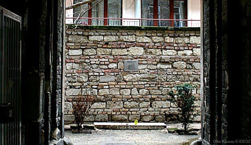mur de l'ancien ghetto juif de Budapest