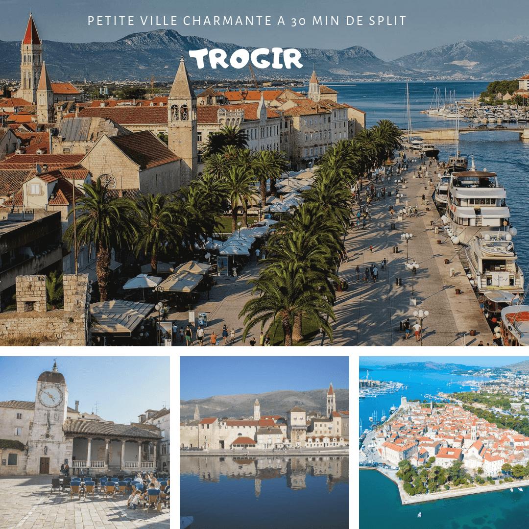 Trogir l'une des plus jolies villes de dalmatie centrale