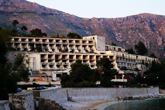 Kupari hotel Goricina urbex à dubrovnik