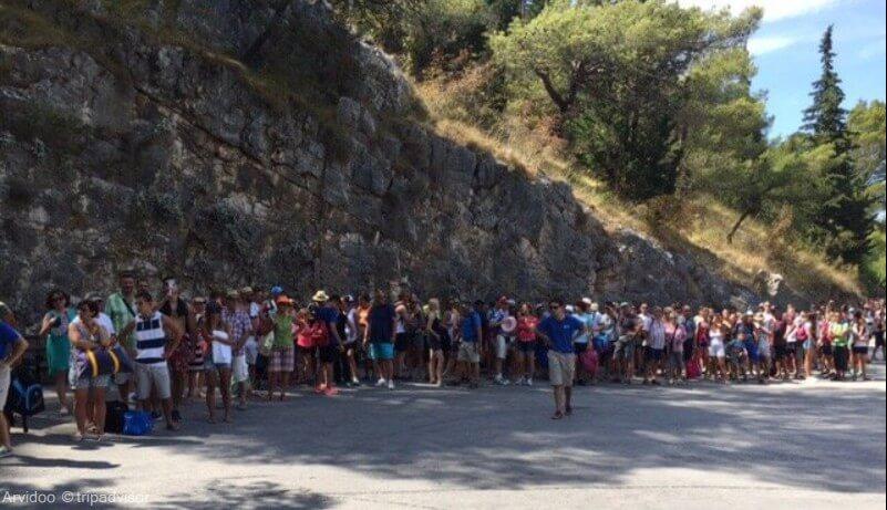 file d'attente pour rejoindre l'entrée de lozovac à krka (1)