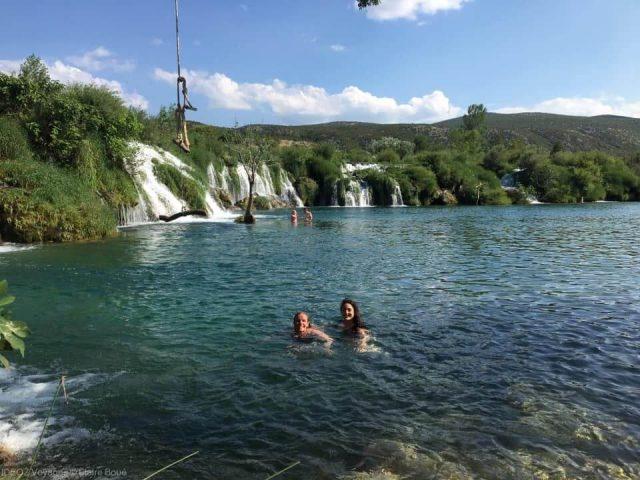 Berberov buk baignade dans la rivière Zrmanja
