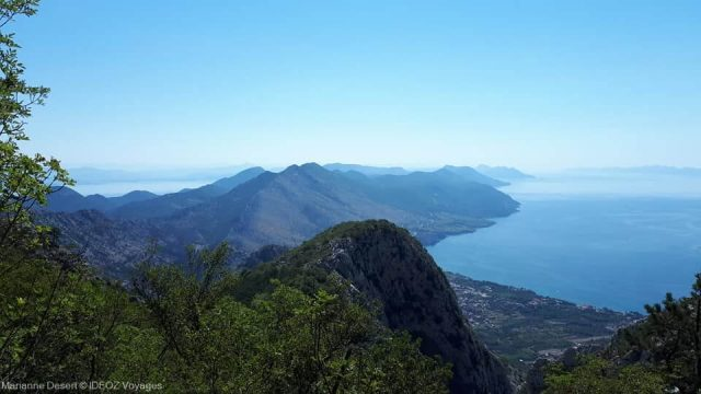 vue sur la presqu'île de peljesac depuis Sveti ilija