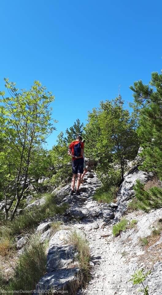 chemin de randonnée depuis Ruskovići jusqu'à sveti ilija sur la presqu'île de peljesac