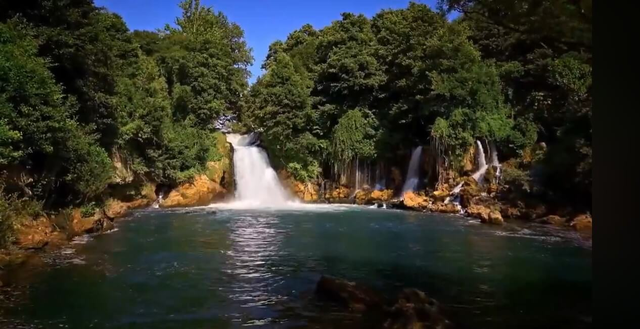 Bilušica Buk cascade de la rivière krka