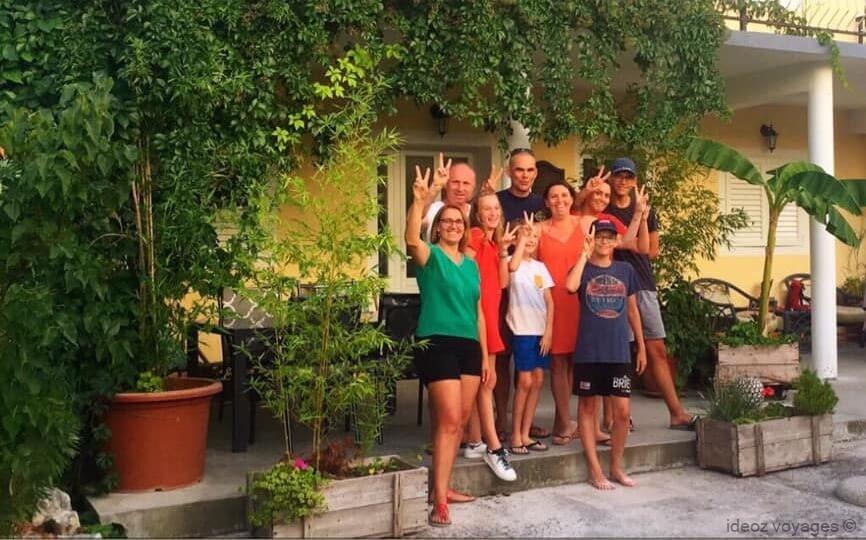 famille à stasevica à la villa mélanie