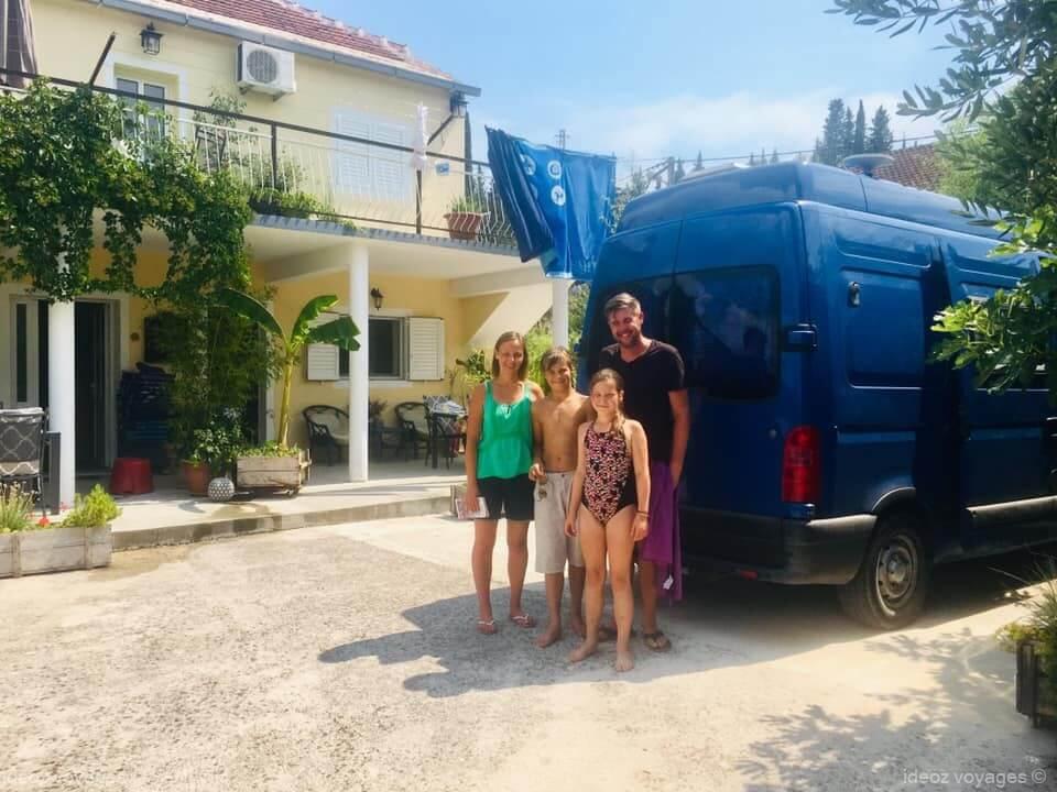 famille chti séjournant à la villa jozetine à stasevica
