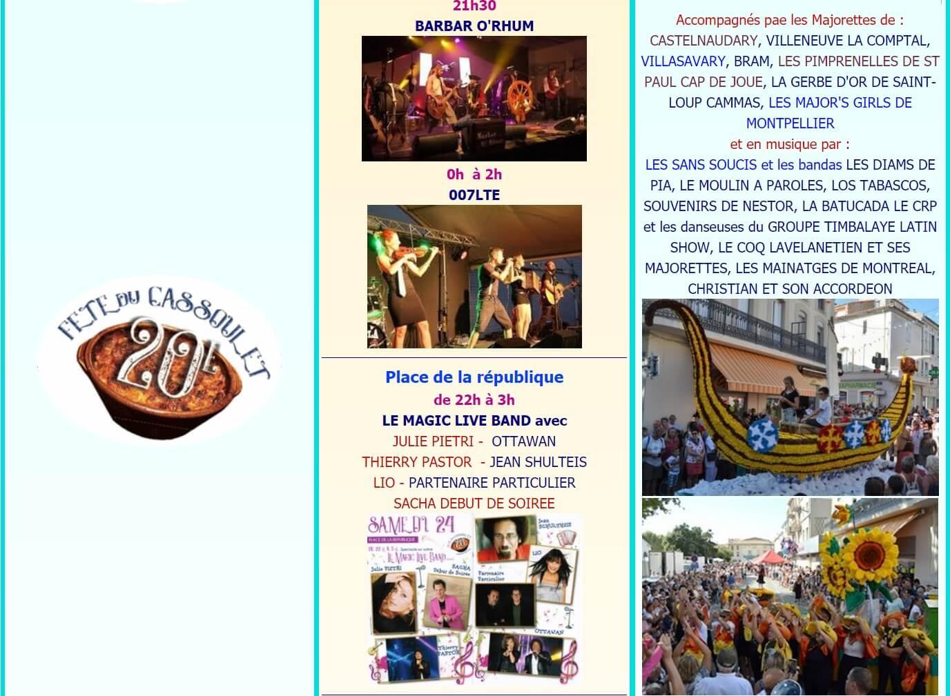 Fête du cassoulet de Castelnaudary ; 4 jours de folie du 22 au 25 Août 2019 35