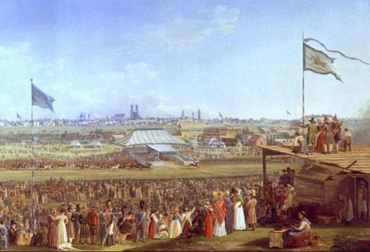 tableau d'Adam Pferderennen Munich Oktoberfest 1823