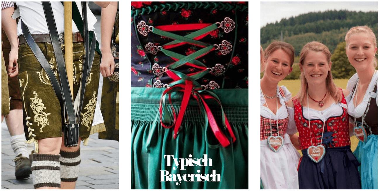 Dirndl et Lederhose costumes bavarois à la fête de la bière de munich