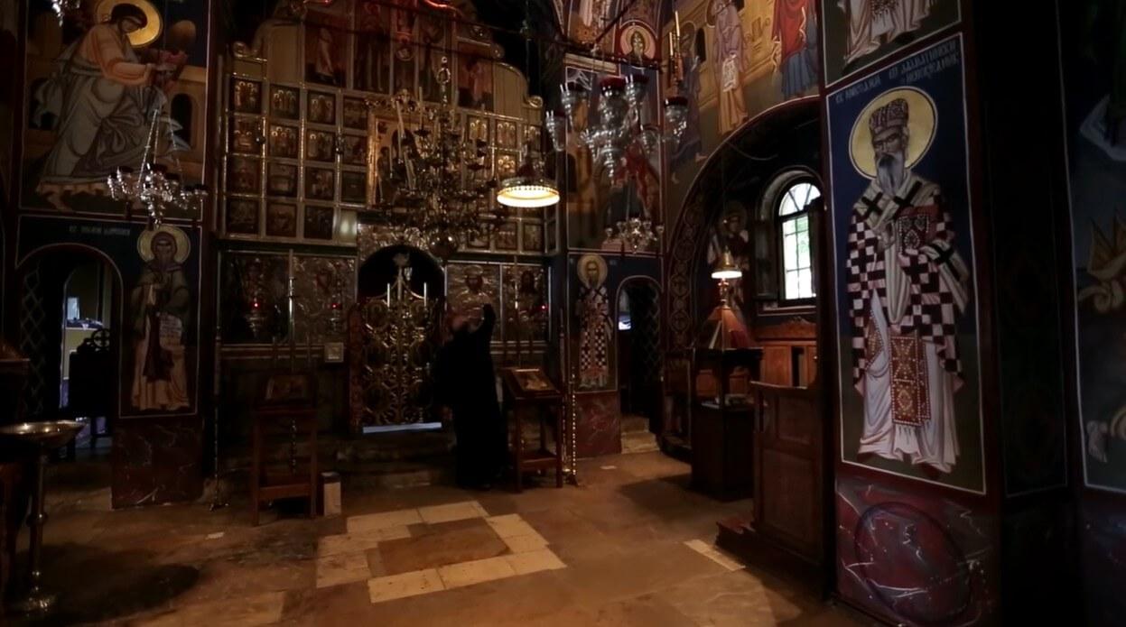 intérieur de l'église du monastère de krka