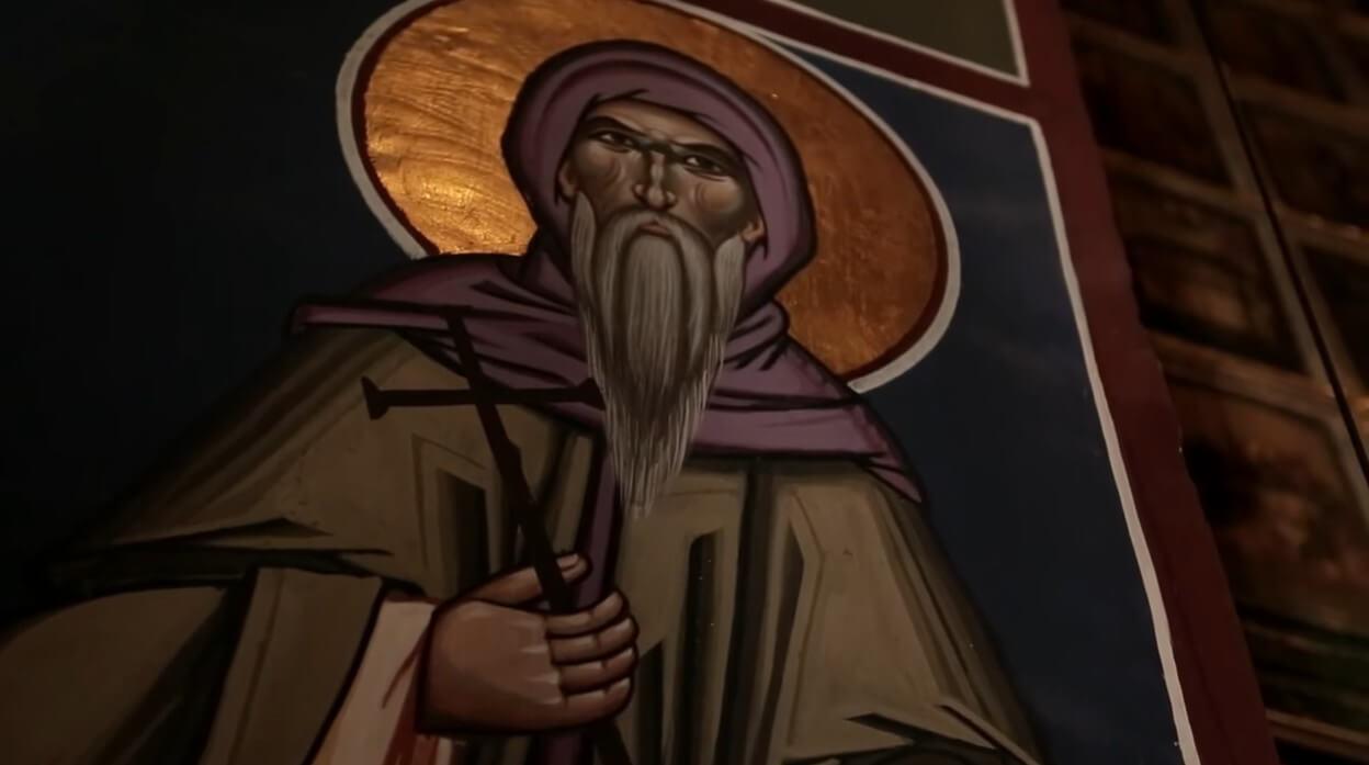 icone d'un saint dans l'église du monastère de krka