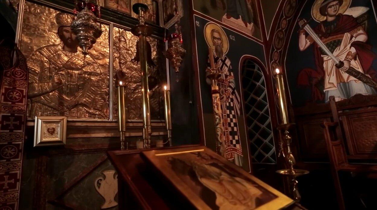 manastir krka intérieur de l'église