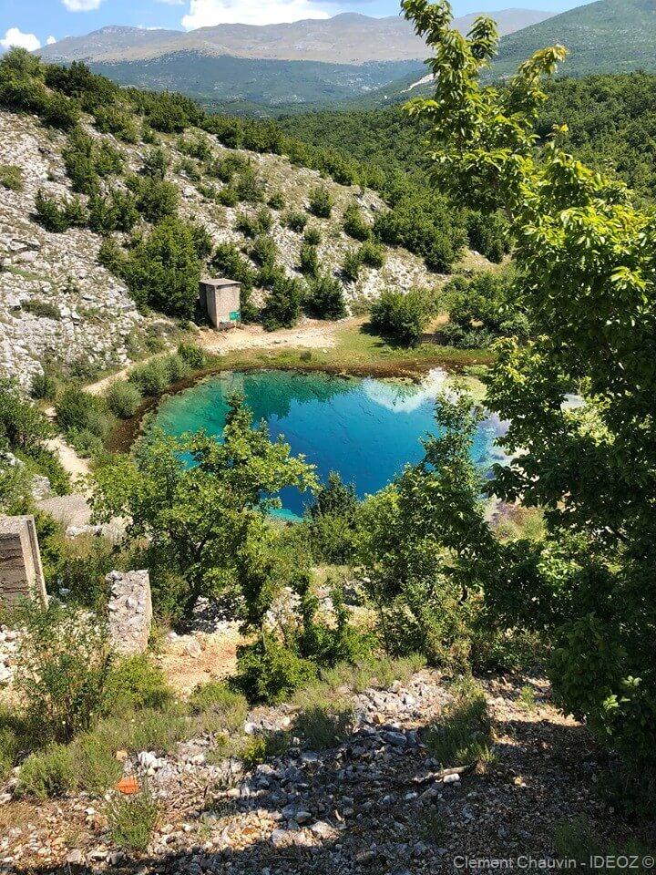 source de la Cetina depuis les hauteurs