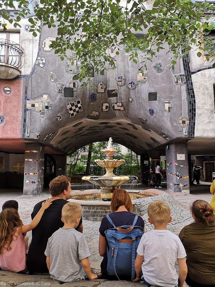 Wien Hundertwasser village et fontaine