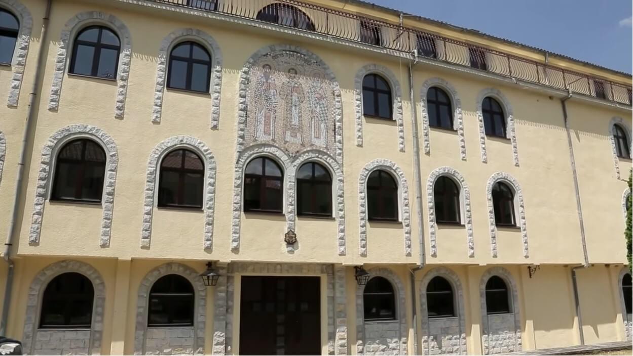bâtiments de vie des moines du monastère krka