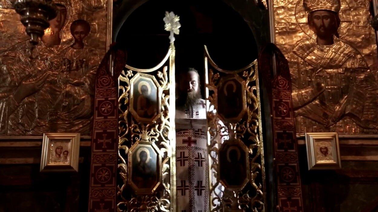 choeur de l'église du monastère de krka