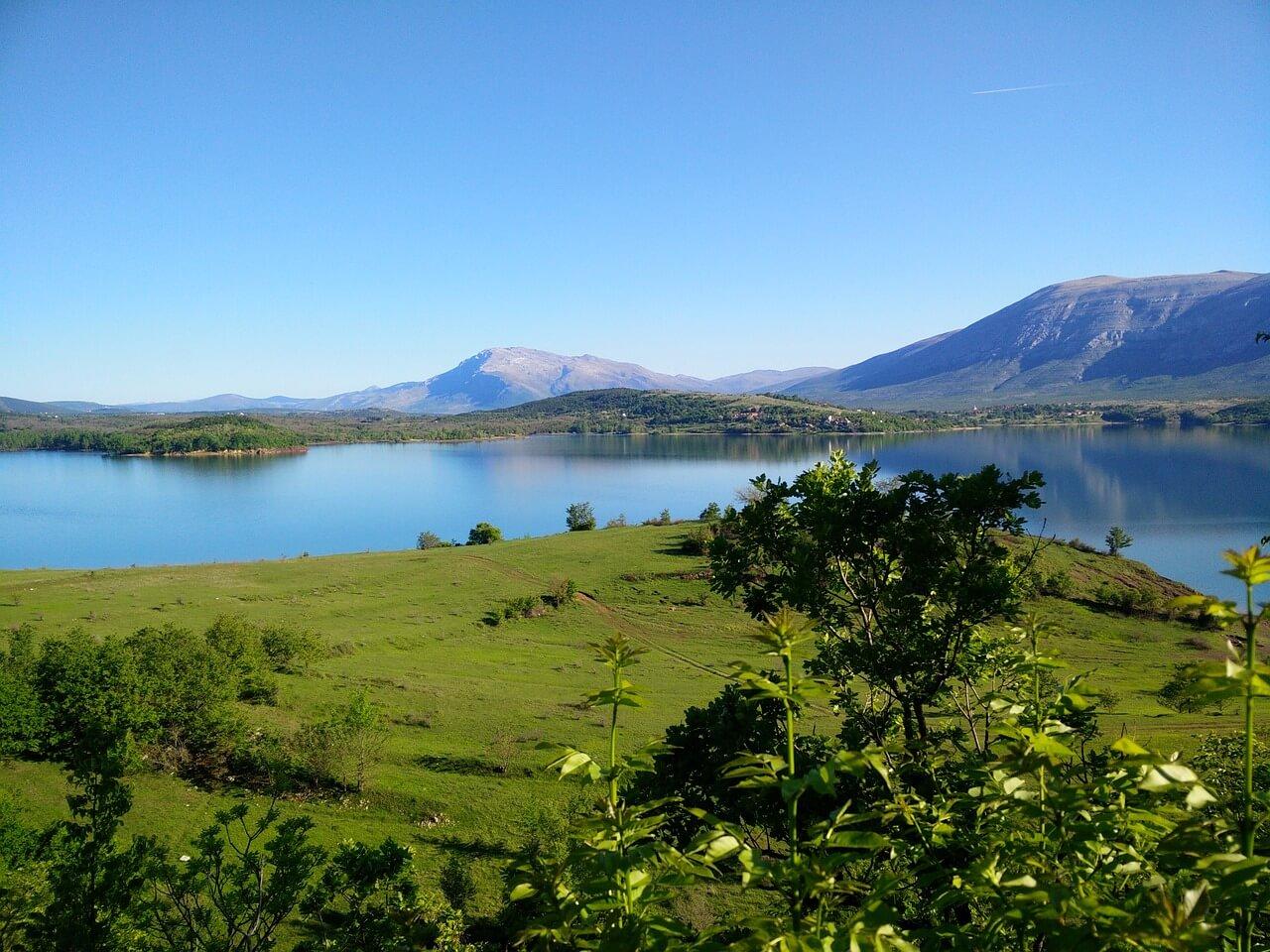 lac peruca réserve artificielle de la rivière cetina