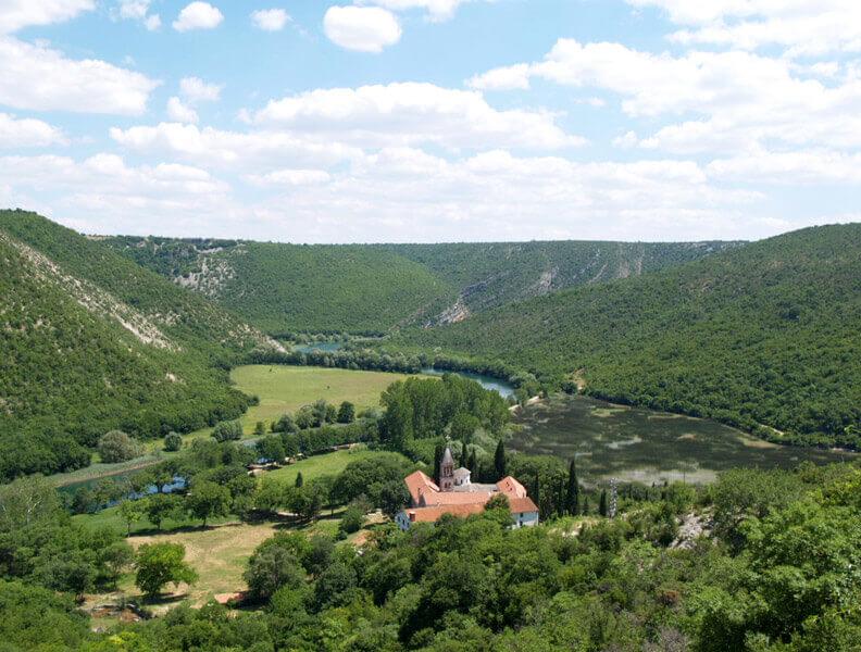 Parc national de la Krka - Monastère Saint-Michel Archange