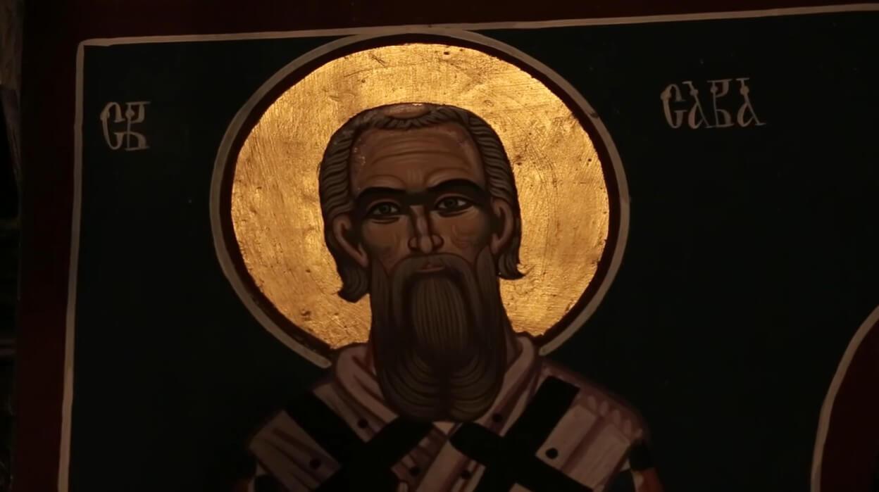 icone de saint sava dans l'église du monastère de krka
