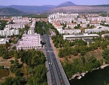 aperçu de la capitale du montenegro Podgorica