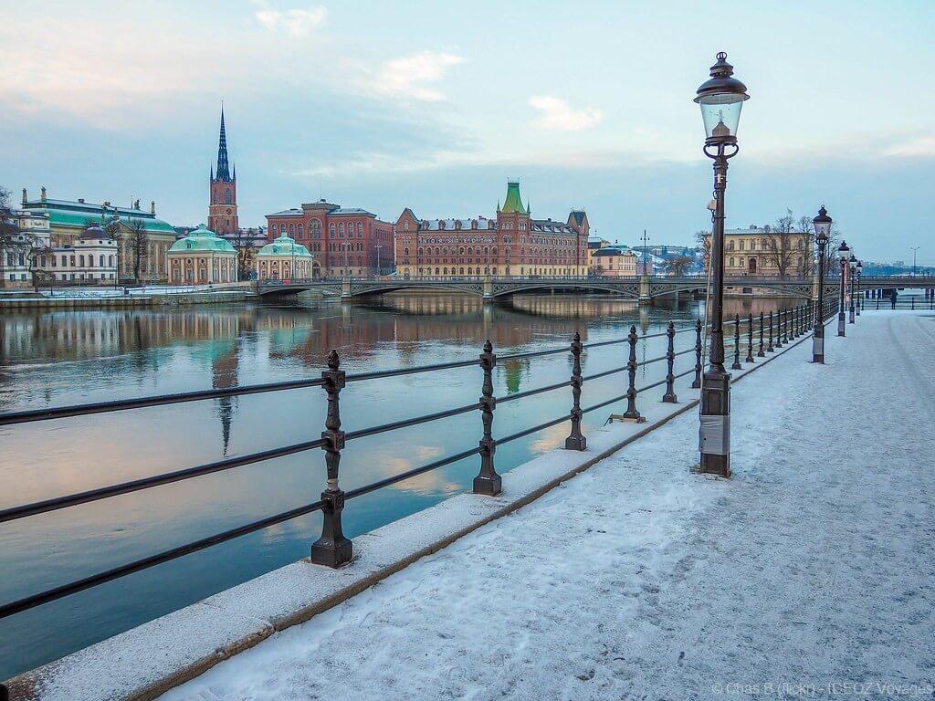 Strömgatan Stockholm en hiver