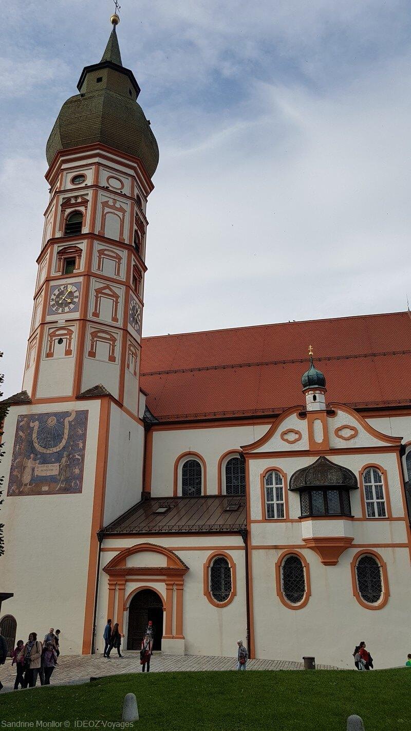 clocher de l'abbaye d'andechs (ammerseeland)