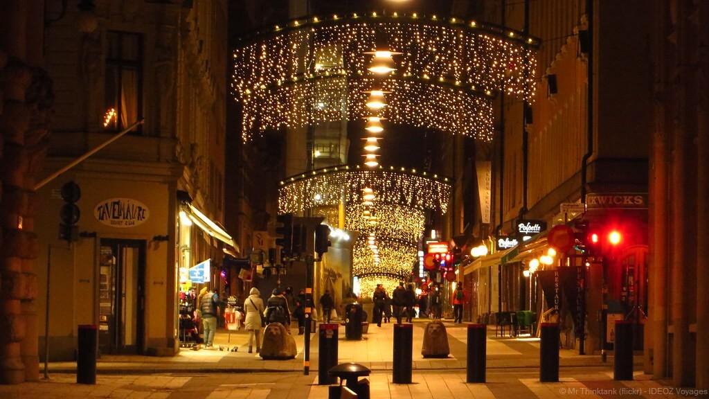 décorations de noel dans les rues à stockholm