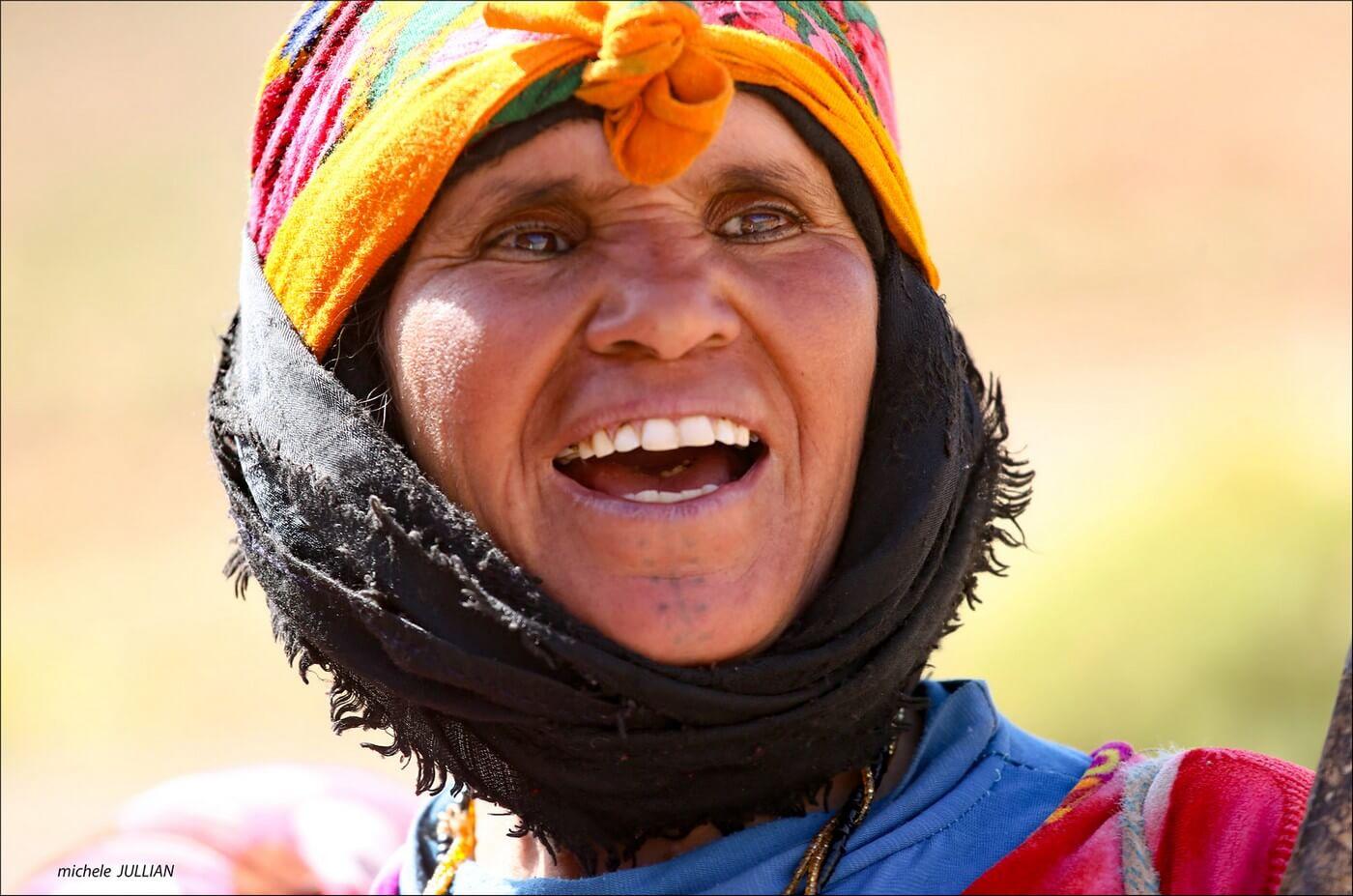 femme nomade rencontrée entre Saghro et le Haut Atlas