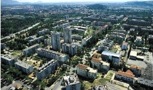 immeubles de Podgorica capitale du montenegro