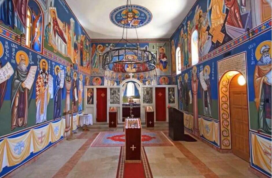 intérieur de l'église du monastère de dragovic