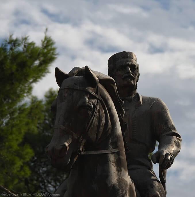 statue du roi Nikola I. Petrovic Njegos roi du montenegro entre 1910 et 1918