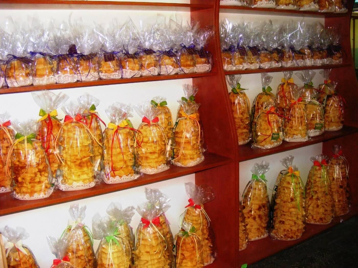 sękacz gâteau à la broche polonais très présent sur le  marché de noel à Cracovie