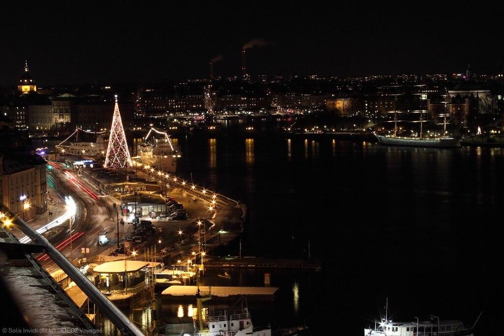 stockholm à noel la nuit