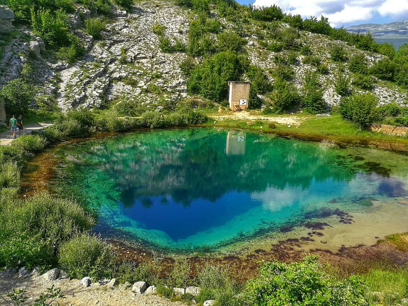 vrelo cetine source de la rivière cetina en dalmatie, site insolite en croatie