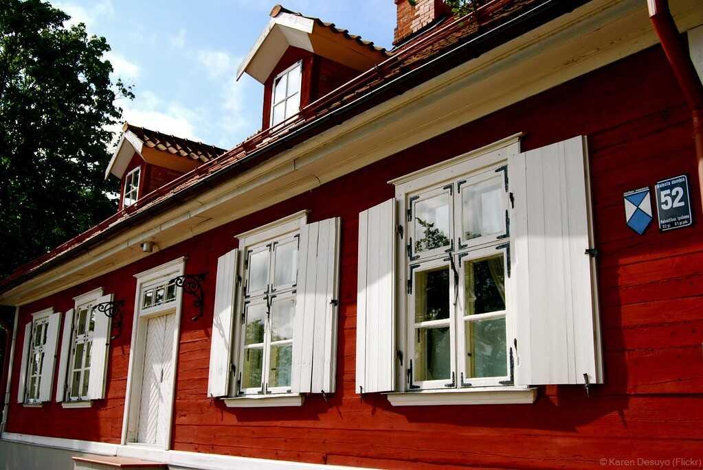 L'île de Kipsala à Riga ; un coin de campagne dans la ville