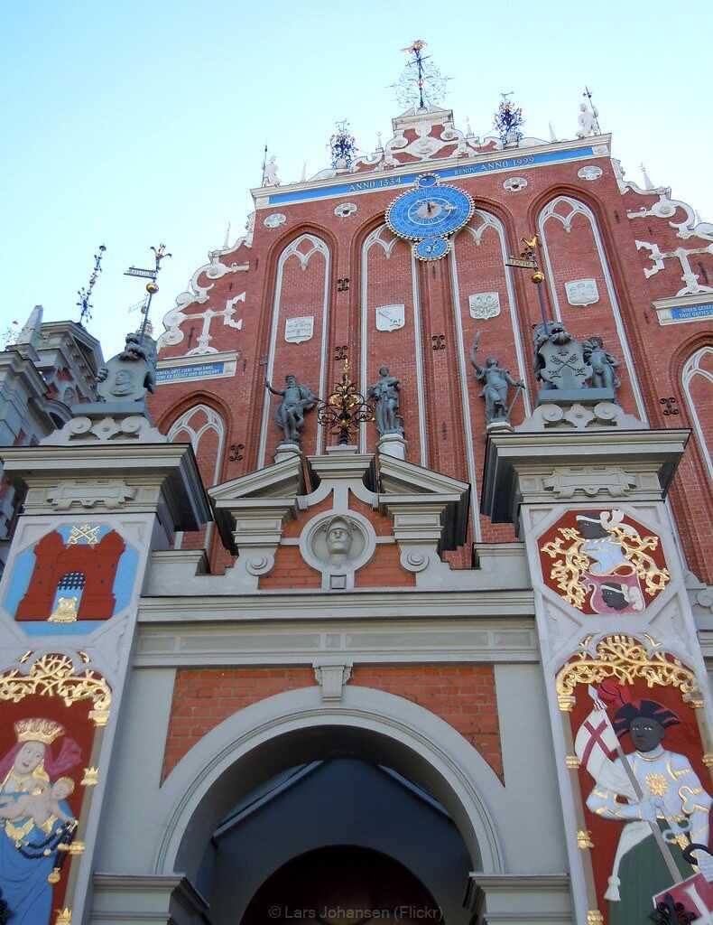 Riga maison des têtes noires
