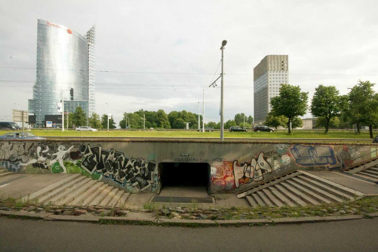 passage souterrain de kipsala à riga